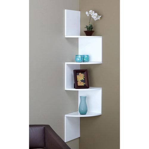 étagère Murale à 4 Tablettes Provo Blanc étagères Pour Lentrée