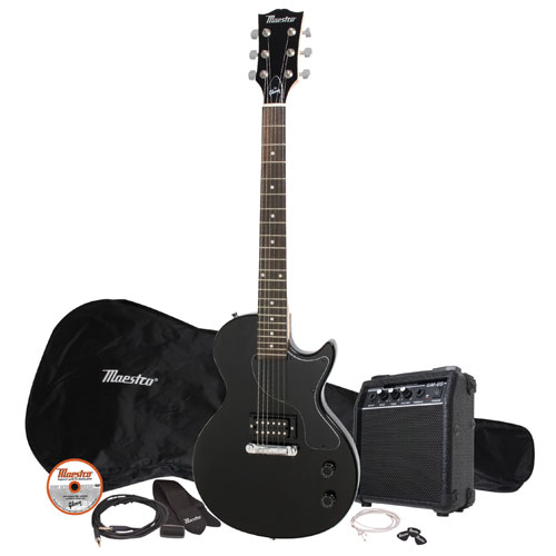 Maestro by Gibson Les Paul Electric Guitar Pack - Black