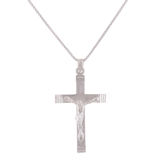 Classic sterling silver chain with sterling silver crucifix pendant classic sterling silver chain with sterling silver crucifix pendant necklace necklaces best buy canada aloadofball Images