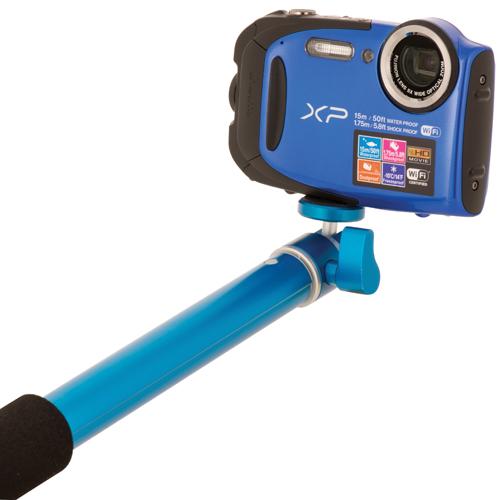 Poteau sans fil Selfiepole Xtreme Action de Bower pour caméras et GoPro (XAS-BTM400BL) - Bleu
