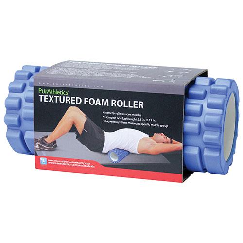 "PurAthletics Textured Foam Roller - 13"" - Blue"