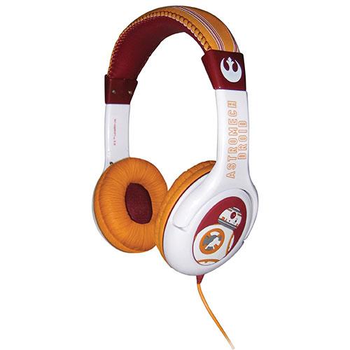 KIDdesigns Star Wars Over-Ear Headphones (SW-140E7.FX) - Orange/White