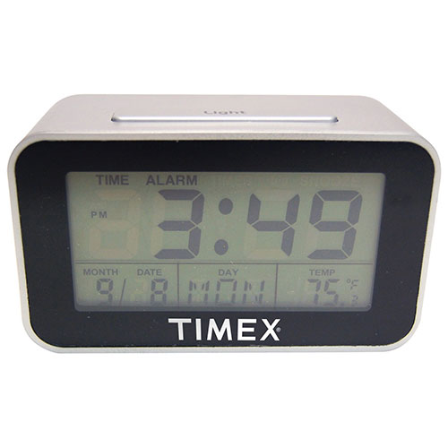 timex table alarm clock 2605t silver clocks best buy canada rh bestbuy ca timex indiglo night light alarm clock instructions timex indiglo alarm clock instructions t436b