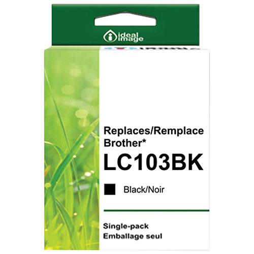 Cartouche d'encre noire d'ideal image pour Brother (BB-LC103BK)