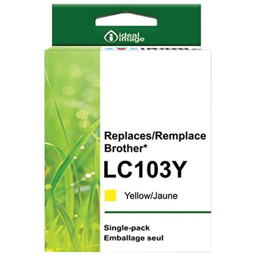 Cartouche d'encre jaune d'ideal image pour Brother (BB-LC103Y)