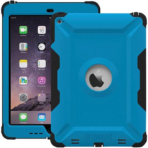 Étui robuste Kraken A.M.S. de Trident Case pour iPad Air 2 - Bleu