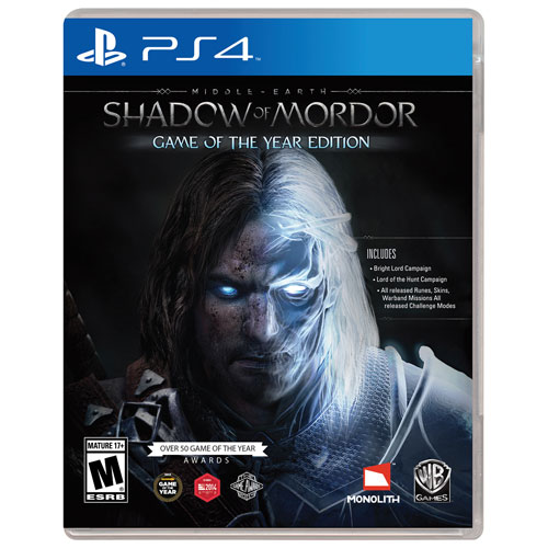 Shadow Of Mordor Game Of The Year Edition (PS4) - Previously Played