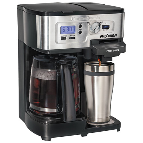 Hamilton Beach 12-Cup Multi-Functional Coffee Maker (49983C) - Black/Stainless : Coffee Makers ...