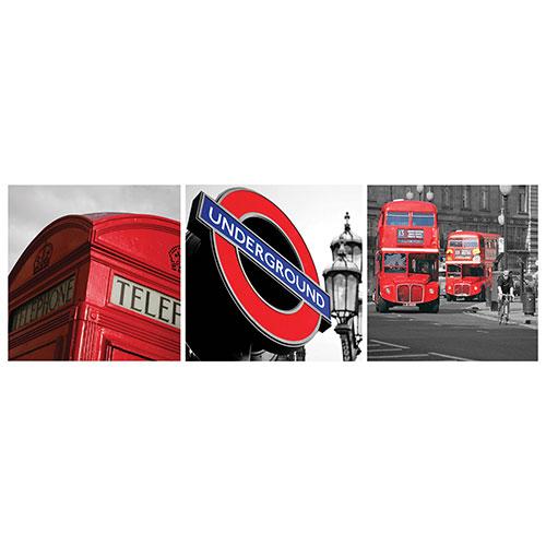 """Nexxt Shutter 12"""" x 12"""" London Canvas - 3 Pack"""