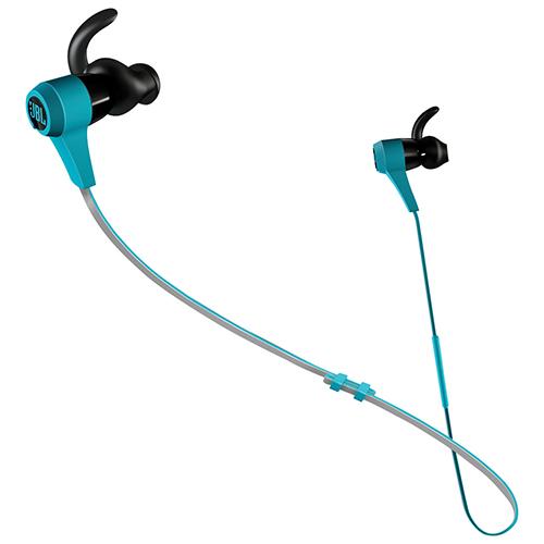 JBL Synchros Reflect BT In-Ear Sound Isolating Bluetooth Headphones with Mic (JBLREFLECTBTBLU) - Blue