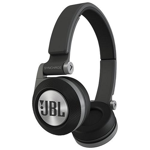 JBL Synchros E30 On-Ear Headphones with Mic (E30BLK) - Black