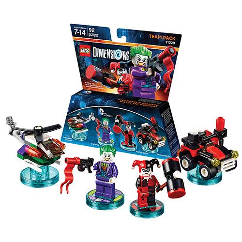 Ensemble équipe LEGO Dimensions : DC Comics - Joker et Harley Quinn