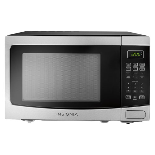 Insignia Countertop Microwave - 1.2 Cu. Ft. - Stainless Steel/Black