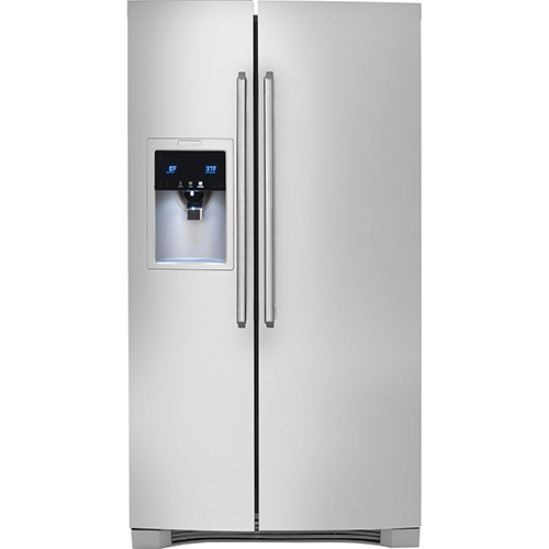 "Electrolux 36"" 22.6 Cu. Ft. Side-by-Side Counter Depth Refrigerator (EW23CS75QS) - Stainless Steel"