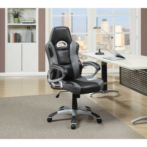 Austin Bonded Faux Leather Task Chair   Black/Grey : Office Chairs   Best  Buy Canada