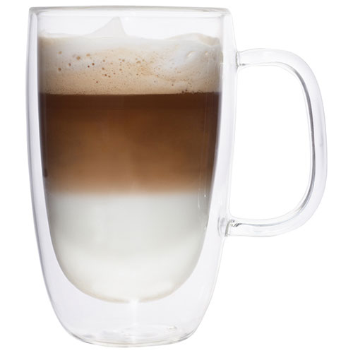tasse caf double paroi de brilliant ensemble de 2 verres ordinaires best buy canada. Black Bedroom Furniture Sets. Home Design Ideas