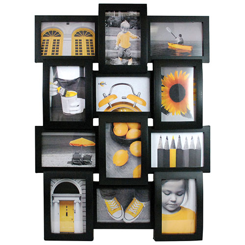 Kiera Grace Curve Collage Photo Frame (PH00116-0FF) - Black