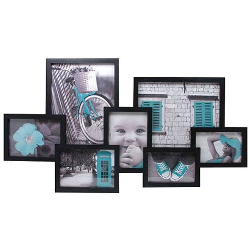 Kiera Grace Lindo Collage Photo Frame (PH00119-1FF) - Black