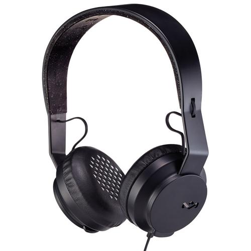 House of Marley Rebel On-Ear Headphones with Mic (EM-JH081-BK) - Black