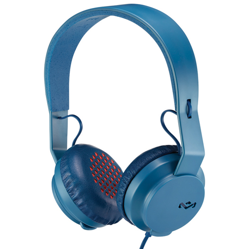 House of Marley Rebel On-Ear Headphones with Mic (EM-JH081-NV) - Navy