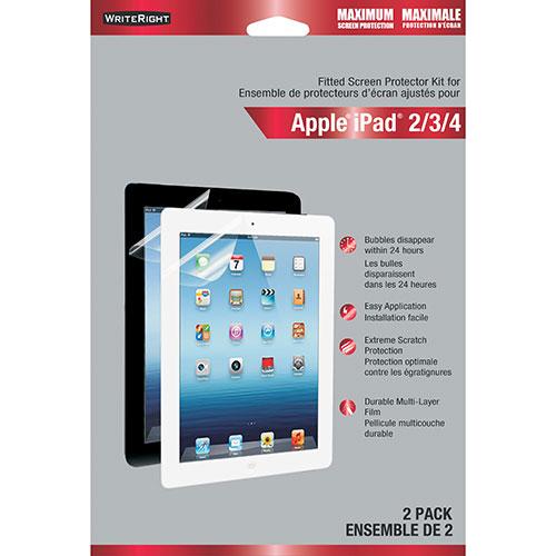 Protecteur d'écran avant WriteRight de Fellowes pour iPad 2/3/4 - Paquet de 2