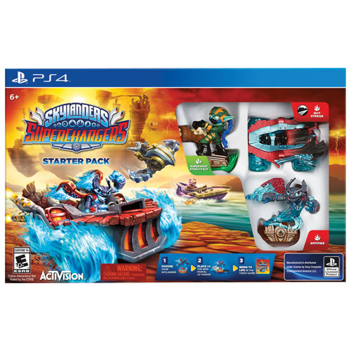 final clearance skylanders superchargers starter pack ps4