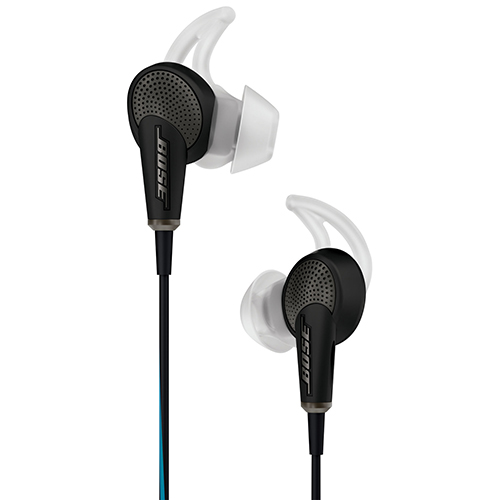 Bose QuietComfort 20 In-Ear Noise Cancelling Headphones with Mic (Apple) - Black
