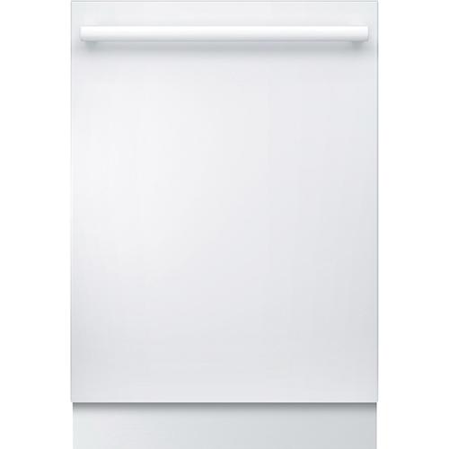 "Bosch 24"" 46 dB Built-In Dishwasher with Stainless Steel Tub (SHX5AV52UC) - White"