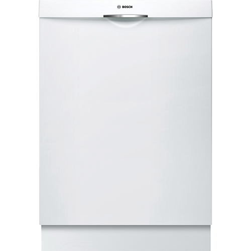 Lave-vaisselle encastrable 24 po 46 dB à cuve acier inoxydable Ascenta de Bosch (SHS5AV52UC) - Blanc