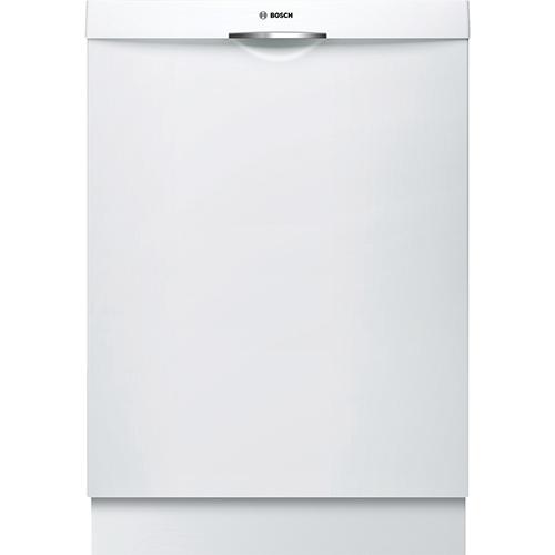 "Bosch Ascenta 24"" 46 dB Built-In Dishwasher with Stainless Steel Tub (SHS5AV52UC) - White"