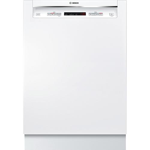 "Bosch Ascenta 24"" 48 dB Built-In Dishwasher with Stainless Steel Tub (SHE4AV52UC) - White"
