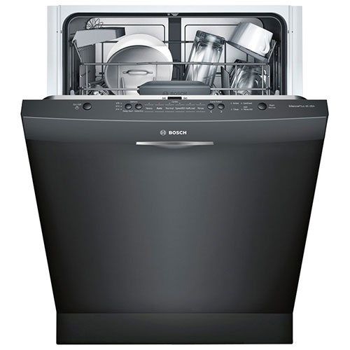 "Bosch Ascenta 24"" 46 dB Built-In Dishwasher with Stainless Steel Tub (SHS5AV56UC) - Black"