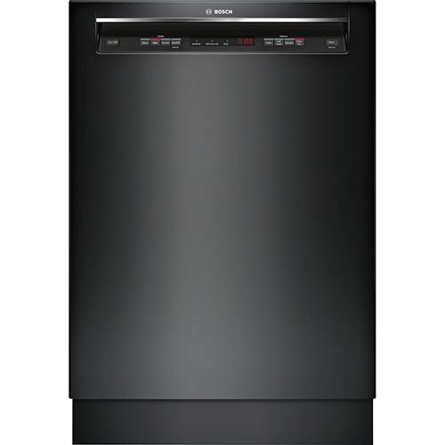 "Bosch Ascenta 24"" 48 dB Built-In Dishwasher with Stainless Steel Tub (SHE4AV56UC) - Black"