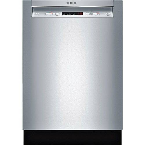 "Bosch Ascenta 24"" 48 dB Built-In Dishwasher with Stainless Steel Tub (SHE4AV55UC) - Stainless Steel"