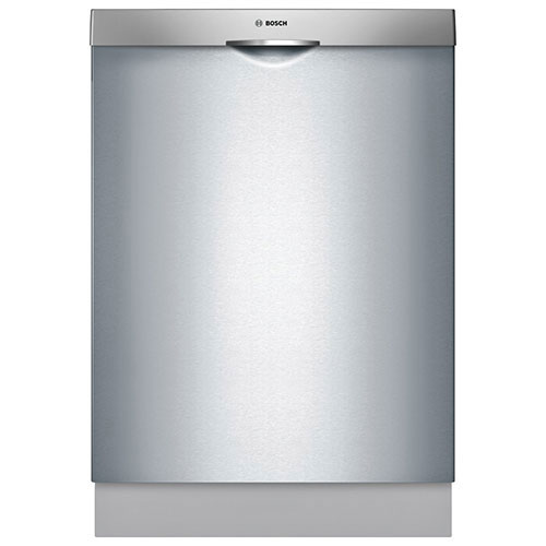"Bosch Ascenta 24"" 46 dB Built-In Dishwasher with Stainless Steel Tub (SHS5AV55UC) - Stainless Steel"