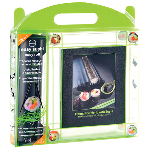Easy Sushi 3.5cm (1.4 in.) Sushi Roller and Book Set