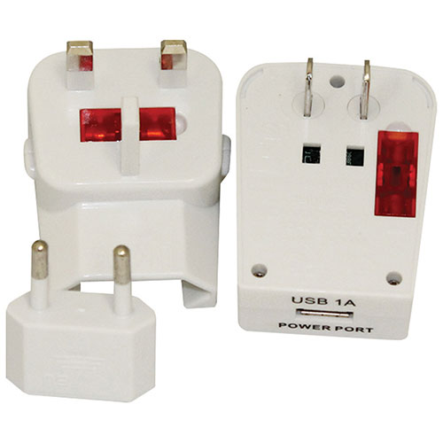 North 49 Universal Travel Adapter with USB Port