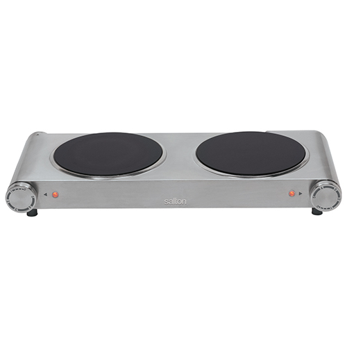 Salton Portable Infrared Cooktop   Stainless Steel