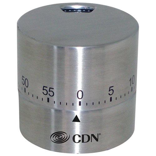 Minuterie mécanique ronde de CDN pour la cuisine - Argenté