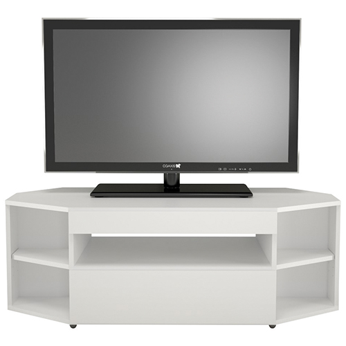 Meuble en coin Blvd de Nexera pour téléviseur de 64 po ou - Blanc