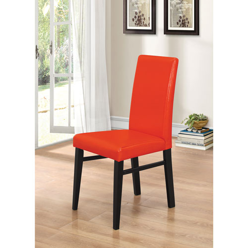 Oakley Transitional Faux Leather Dining Chair Set of 2 Red
