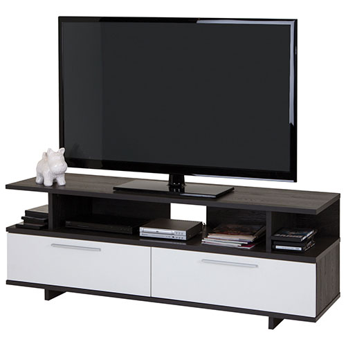 "South Shore Reflekt TV Stand for TVs Up To 48"" - Grey Oak"