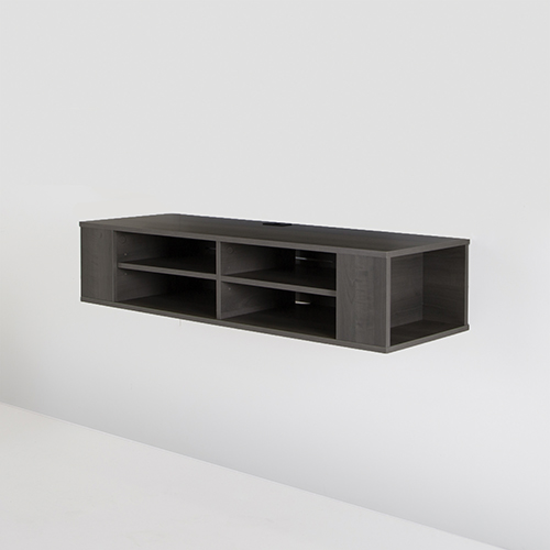 "South Shore Wall TV Stand for TVs Up To 48"" - Grey Maple"
