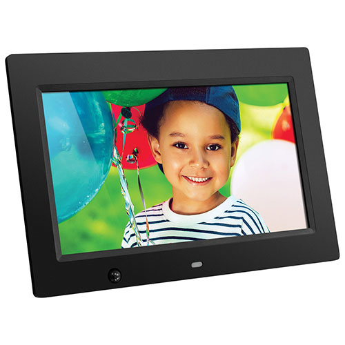 "Aluratek 10"" 4GB Digital Photo Frame with Built-In Speakers (ADMSF310F) - Black"