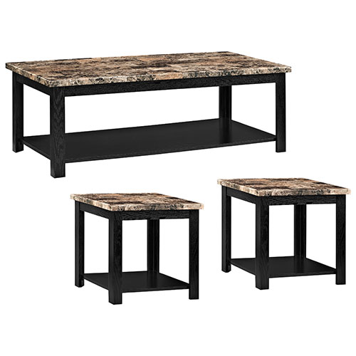 Ellie Transitional 3 Piece Table Set   Mahogany : Nesting Tables U0026 Table  Sets   Best Buy Canada