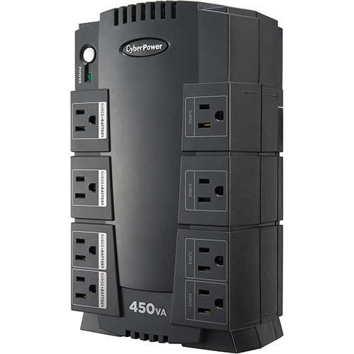 CyberPower 8-Outlet 260W UPS Surge Protector (SE450G-FC)