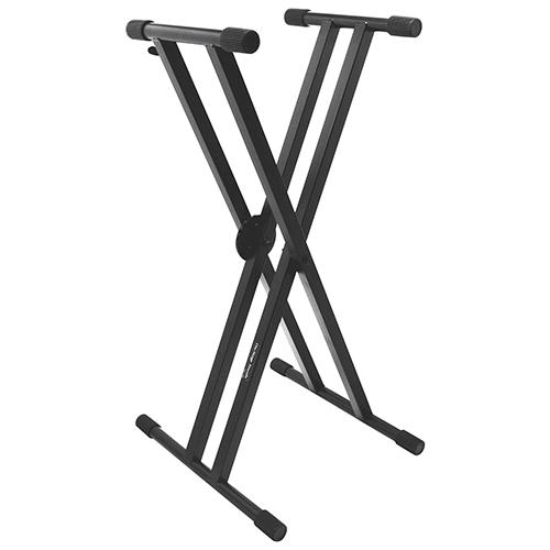 Support de clavier professionnel et robuste Double-X ERGO-LOK d'On-Stage (KS7291)