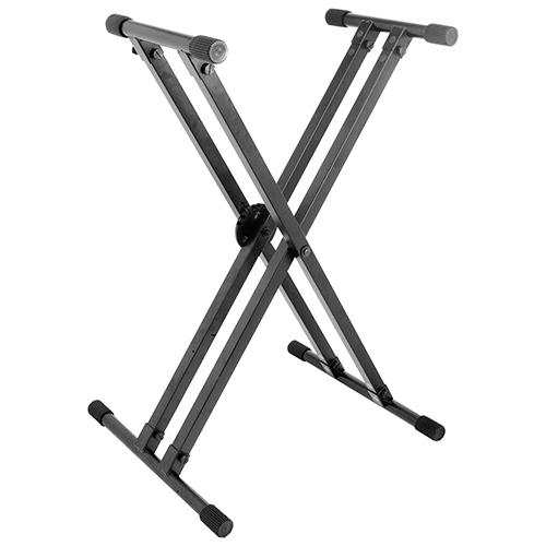 Support pour clavier professionnel en croix double Lok-Tight et système ERGO-LOK d'On-Stage (KS8291)