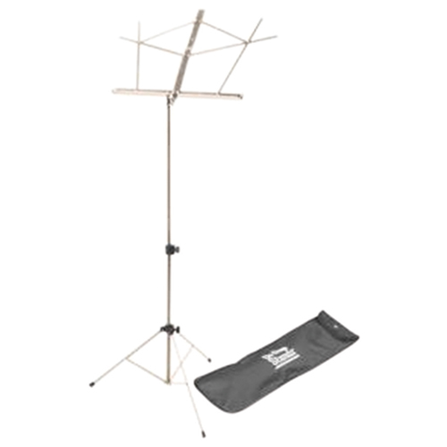 On-Stage Compact Sheet Music Stand With Bag (SM7122NBB) - Nickel
