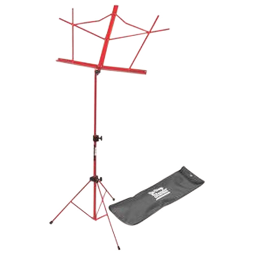 On-Stage Compact Sheet Music Stand With Bag (SM7122RDB) - Red